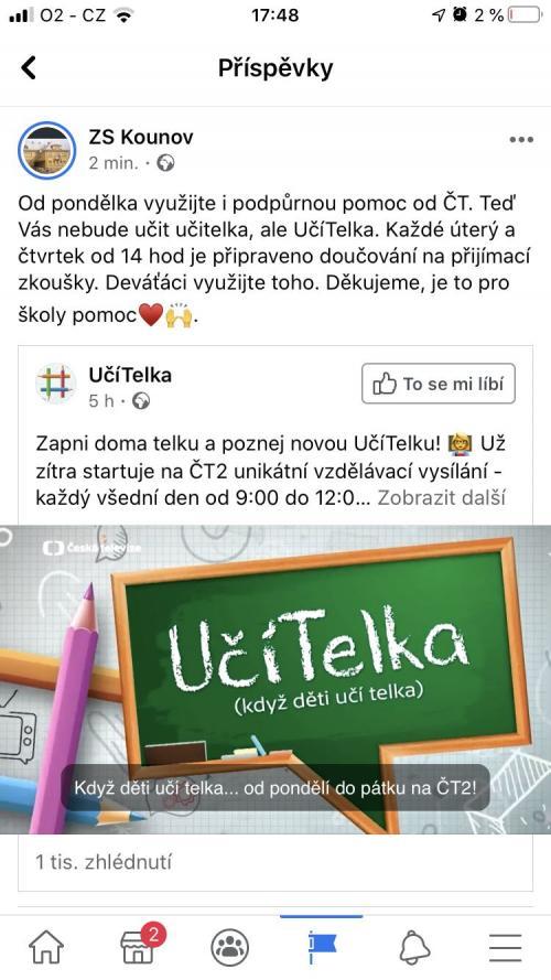 Podpůrná pomoc vzdělávání na ČT